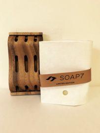 Zeephouder Acacia hout met handgemaakte zeep van Soap7