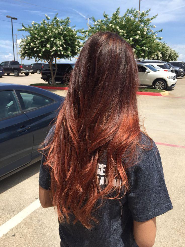 Auburn ombre | Hair goals | Pinterest | Auburn ombre ...