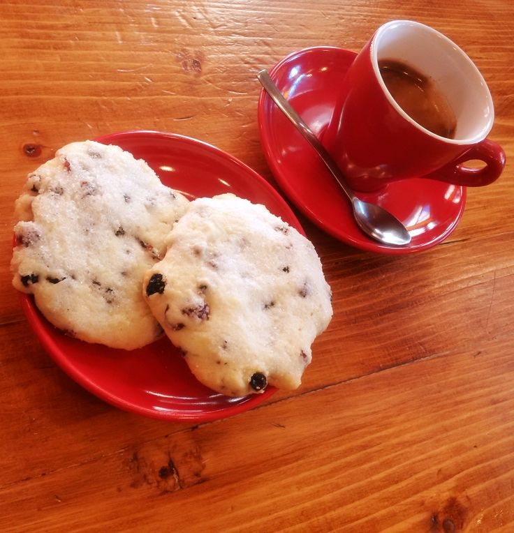 Cranberry Cookies and coffee