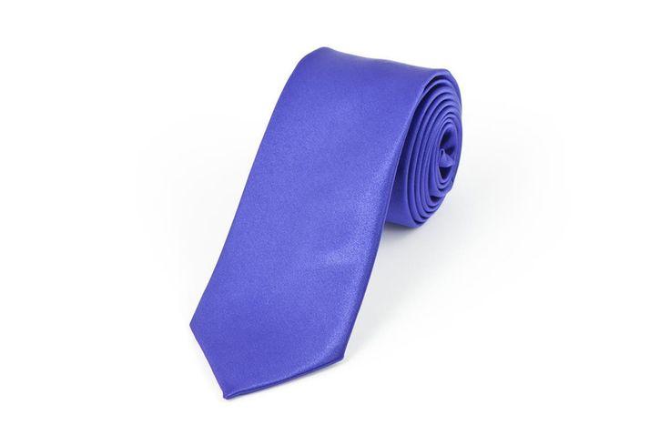 Satin Purple Necktie