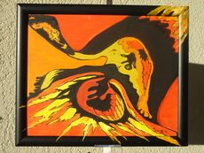 SALES Leben und Tod, 50x40cm, Öl auf Leinwandkarton mit Rahmen