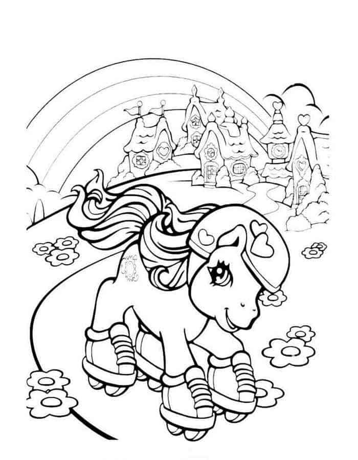 My Little Pony In Roller Blade Coloring Pages My Little Pony