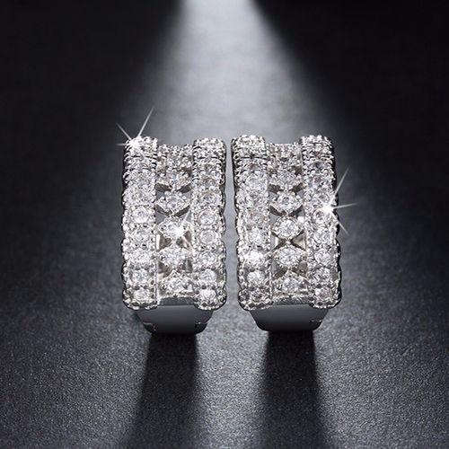 Luxury Small Circle Austrian CZ Earrings