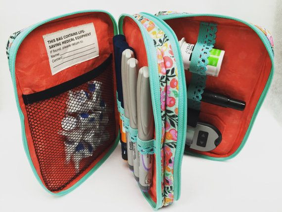 Deluxe Diabetic Supply Case custom made to by Loveandstuffdesigns