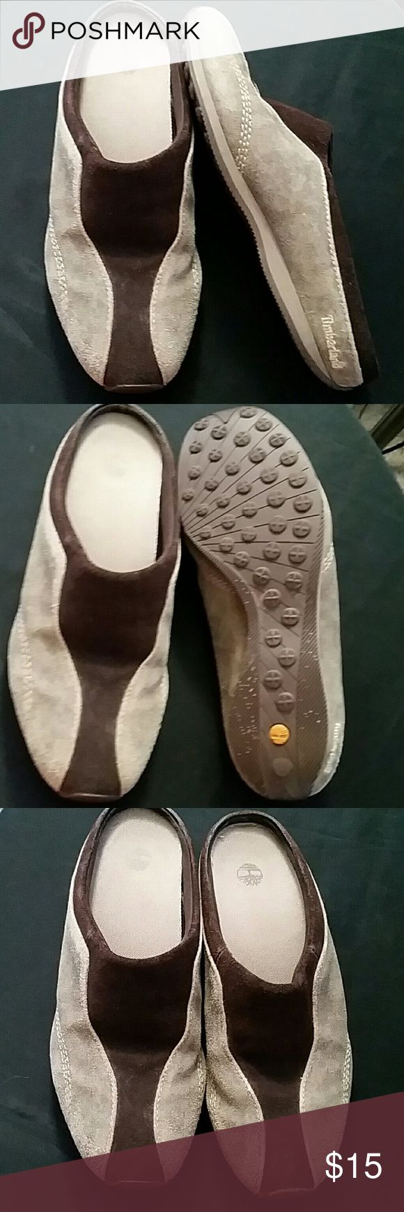 Timberland shoes Genuine leather,  slip on shoes by Timberland.  Brown and tan soft suede. Timberland Shoes Flats & Loafers
