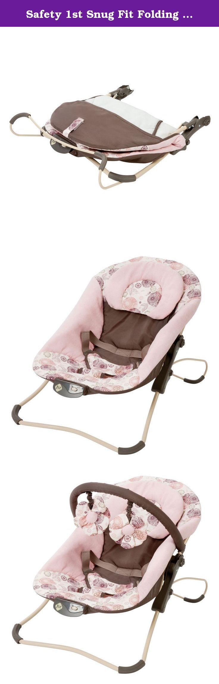 Safety 1st Snug Fit Folding Infant Seat, Yardley. Give your bouncing baby a comfortable seat in the Yardley snug fit folding infant seat. Toy bar with 2 fun toys.