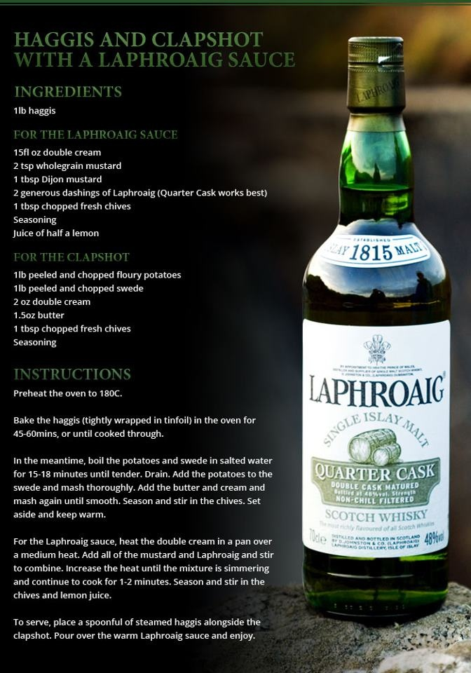 Haggis and Clapshot with a Laphroaig Sauce - Recipe for Burns Night (or any night!)
