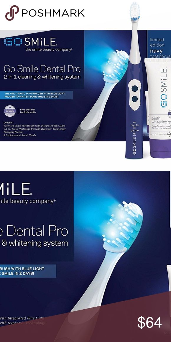 Go Smile UV Sonic Toothbrush Teeth Whitening Pro Unique, time-saving technology delivers the best oral care PLUS deep whitening, while you brush! The Sonic Blue Teeth Whitening System is a fast-acting, powerful whitener that's also a bacteria-reducing sonic toothbrush with soft bristle brush heads, delivering health and beauty benefits as you brush.Blue light wavelengths boost deep whitening and have been shown to reduce harmful bacteria for greater oral health. Dentist-recommended sonic…