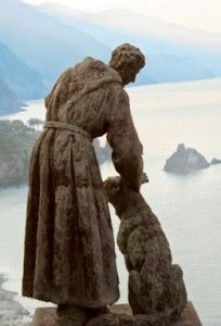 St Francis & Wolf Statue