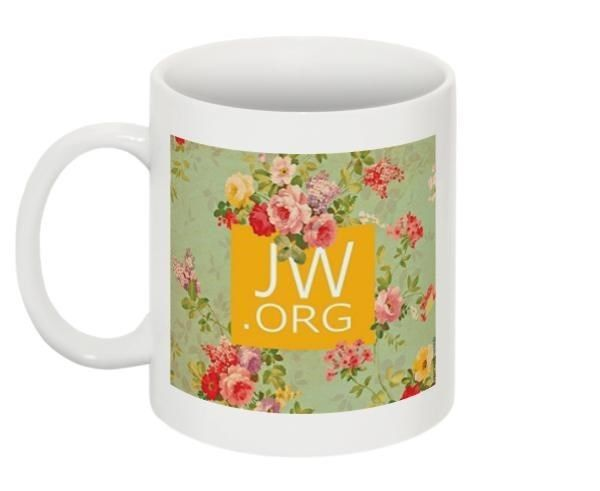 New Floral JW.org Coffee Mug Tea Cup Ministry Jehovah's Witnesses Gift
