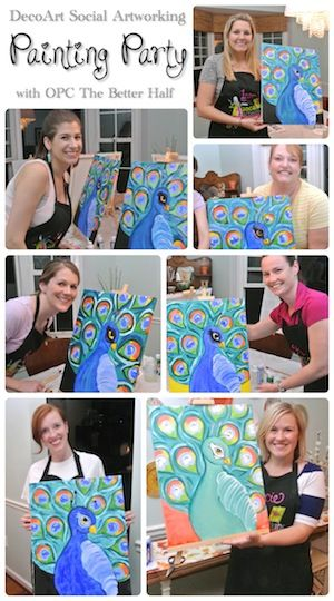 Peacock Painting Party with Social Artworking!
