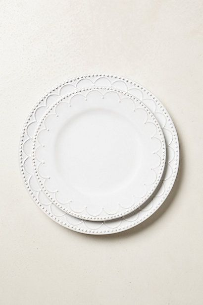 White dinnerware is the only way to go! Love mine but this is beautiful! You can use it for all occasions! Interlude Dinnerware #anthropologie