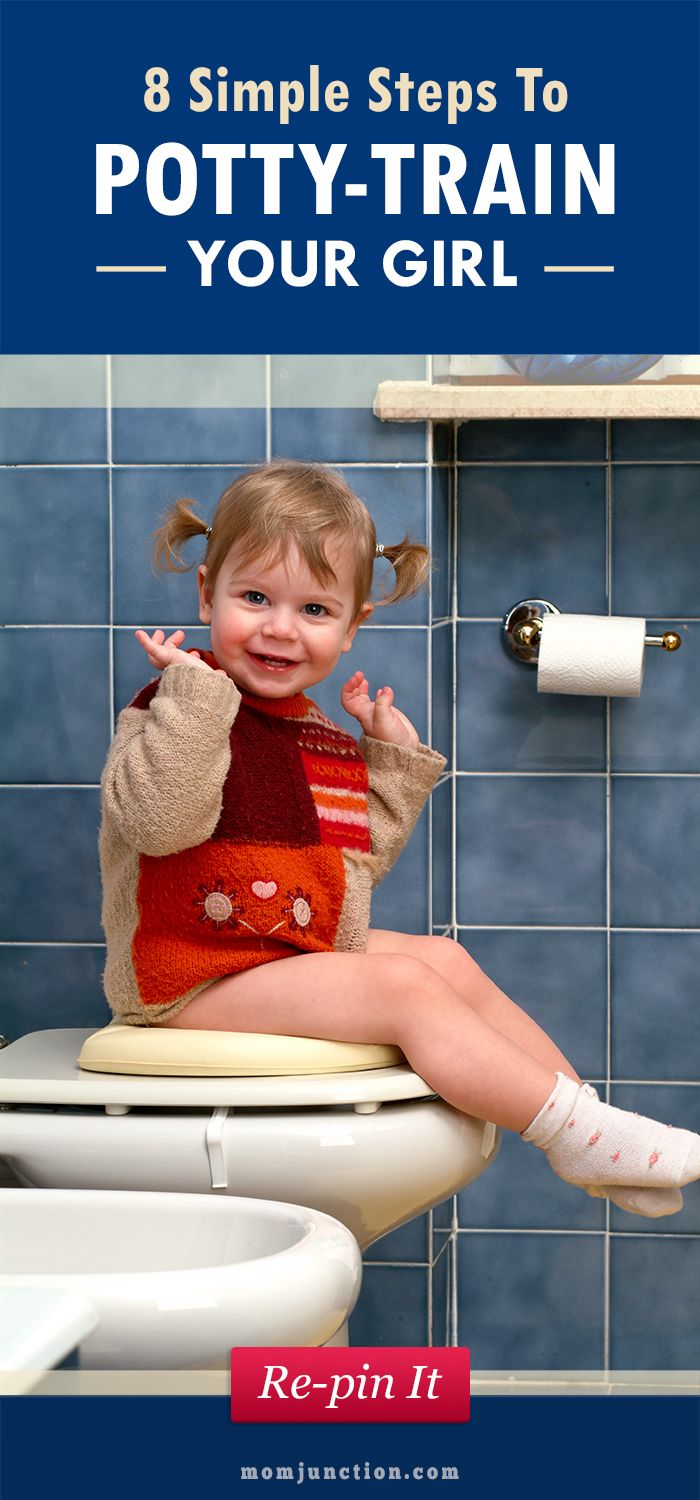 8 Simple Steps To Potty-train Your Girl: Here we list some simple tips for potty training girls and learn when should you start potty training a girl.