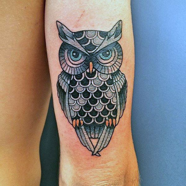 Detailed Owl Traditional Male Tricep Tattoo Designs Traditional Owl Tattoos Tricep Tattoos Owl Tattoo