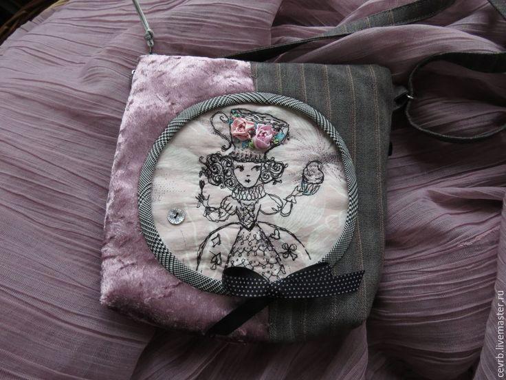 """Купить Сумка """"Алиса и кекс"""" - маленькая сумочка, алиса в стране чудес, алиса, викторианский стиль"""