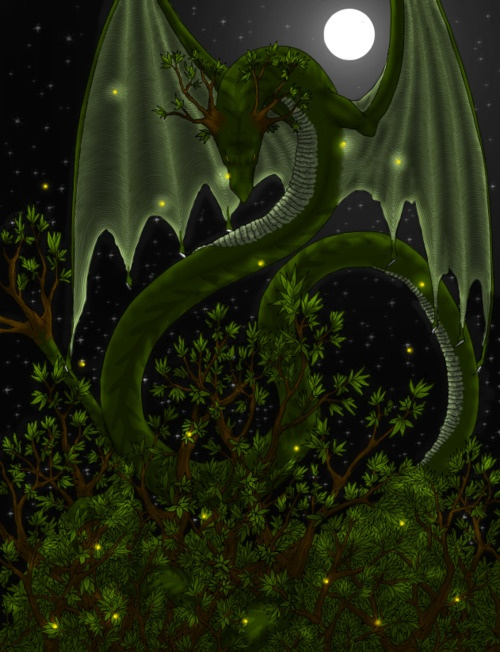 Tree Dragon,  Lizzy JohnDragons Inspiration, Green Dragons, Artists Lizzie, Dragons Pictures, Trees Dragons, Faris And Dragons, Mythical Creatures, Lizzie John, Dragons Green