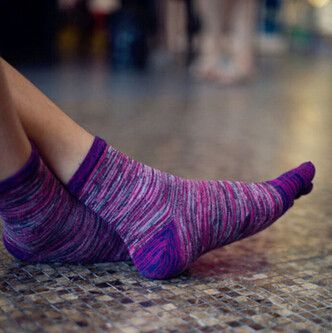 Socks for Men Women Retro Color Five Finger Toe Socks Soft Cotton Blend Casual