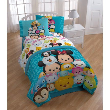 Free Shipping. Buy Jay Franco and Sons, Inc. Disney Tsum Tsum Mash Up Teal 6-piece Bed in a Bag with Sheet Set at Walmart.com