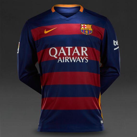 3a74f3f5ccd Nike FC Barcelona Long Sleeve Home Stadium Shirt - Loyal Blue Storm Red University  Gold