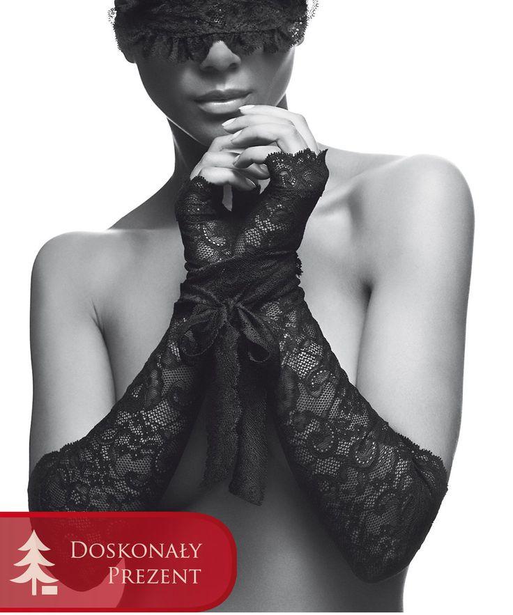 Aubade Boite a Desir P081 Mask and Gloves Black. Eleganckie rękawiczki bez palców z czarnej koronki z koronkową maską z wyjątkowej linii Boite à Désir. Znajdź drogę do krainy wyobraźni. Dostępne w rozmiarze one size, cena 249,99