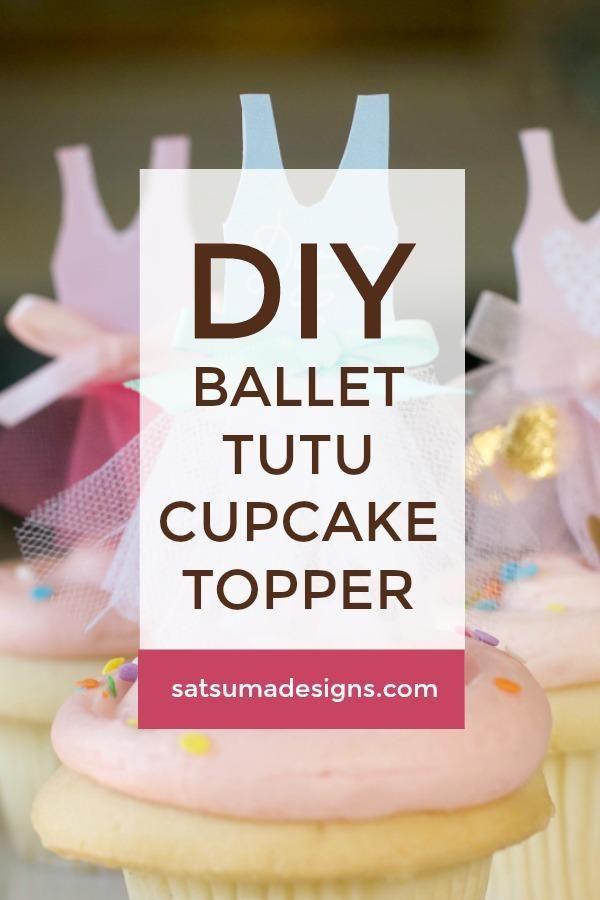 ballet tutu cupcake topper