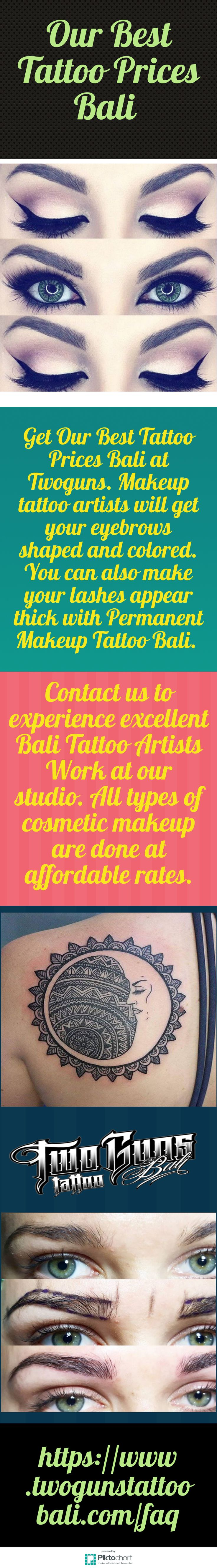 Get Our Best Tattoo Prices Bali at Twoguns. Makeup tattoo artists will get your eyebrows shaped and colored. You can also make your lashes appear thick with Permanent Makeup Tattoo Bali. For detail, visit link: https://www.twogunstattoobali.com/faq