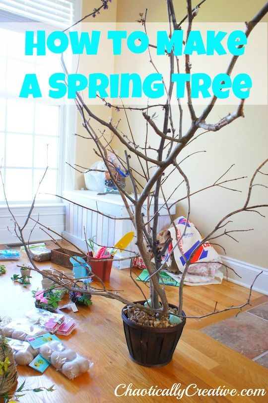 DIY how to make a spring tree from branches