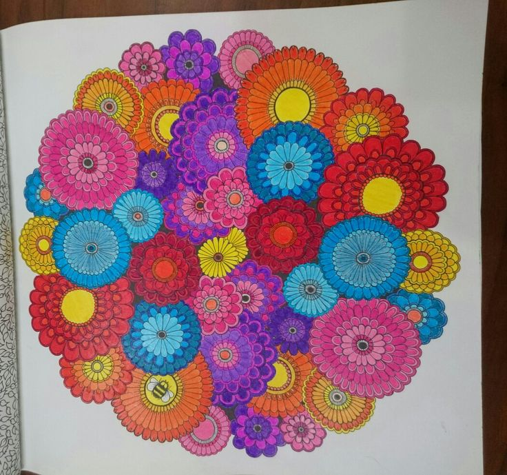 Revision, Johanna Basford Secret Garden Esrarengiz bahçe flowers. Monami pencils progress