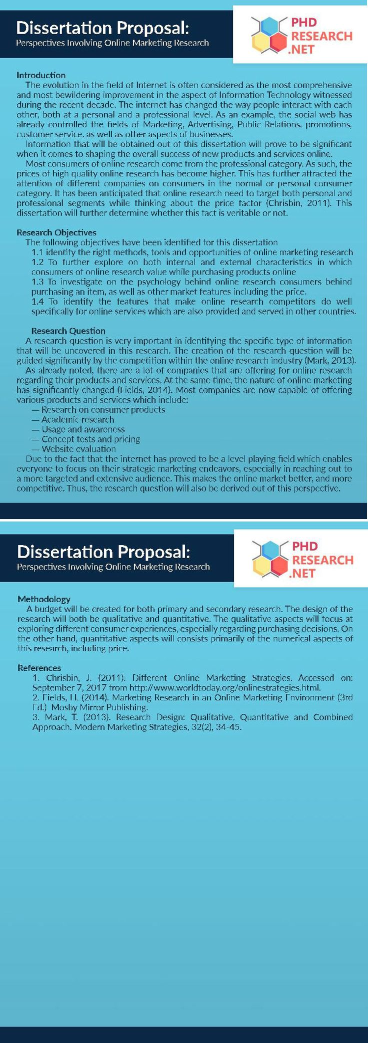 dissertation proposals for marketing The society for marketing advances is proud to sponsor the annual sma doctoral dissertation proposal award to particularly meritorious proposals with a.