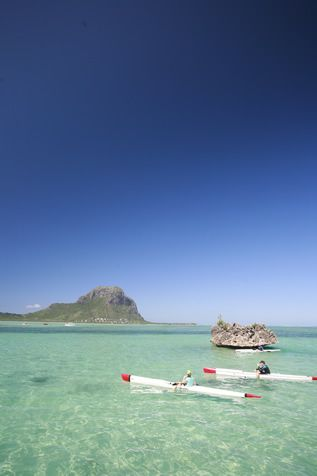 Kayaking in the Morne Lagoon, Mauritius Island