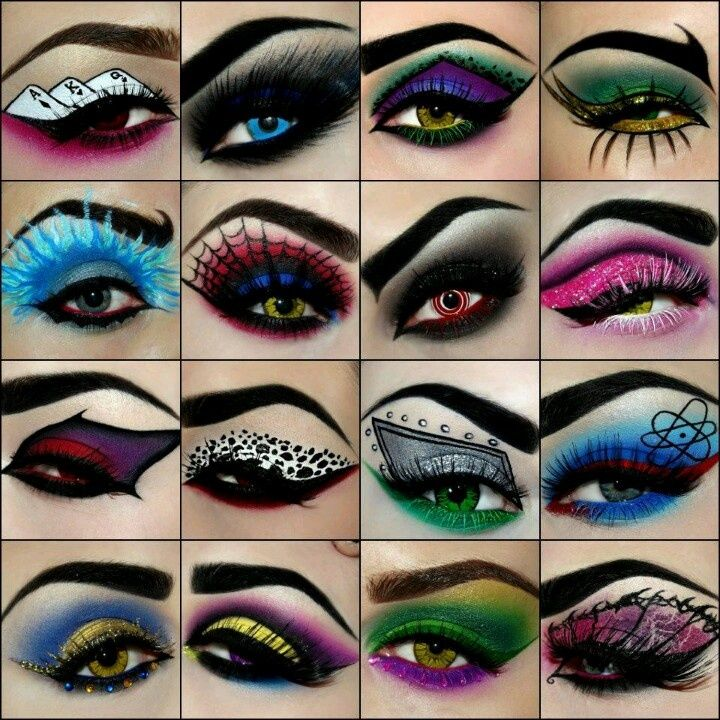 Awesome eye Halloween make-up. .... Some really neat ideas. Love the spider man look, but all great.