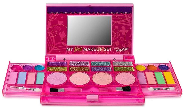 My First Makeup Set, Girls Makeup Kit, Fold Out Makeup Palette with Mirror... #MakeitUp