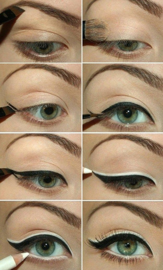 How to Use Eyeliners for Green Eyes | Makeup Tricks by Makeup Tutorials at http://makeuptutorials.com/12-best-makeup-tutorials-for-green-eyes