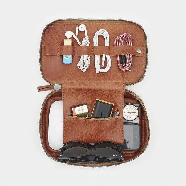 It's time to stop traveling with a bag full of loose charging cables, headphone cords, and small electronics. The Tech Dopp Kit is here to get your travel tech under control in the most stylish way possible. Handmade in Los Angeles, the Tech Dopp Kit boasts four cord loops, one larger buttoned loop, a zippered gear pouch, and enough space for a handful of small electronics or pieces of gear. The beautiful, rich leather and...