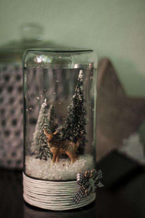 Ein bisschen Winter-Wunderland gefällig? Dabei kann ich gern behilflich sein, wenn auch nur im Glas. Dazu brauchen wir: • ein altes Glas mit Schraubdeckel • kleine Tannenbäumchen • Kunstschnee •...