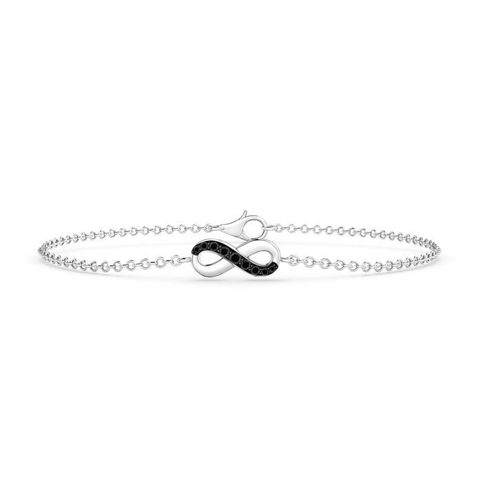 Angara Infinity Symbol Bangle Bracelet in 14K White Gold NFz3tMMHC