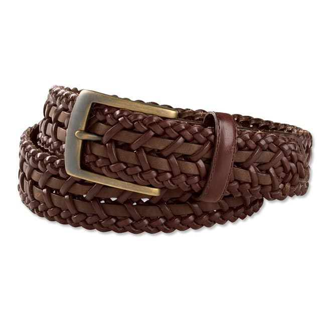 Brown Braided Leather Belt - St. Tropez Braided-Leather Belt -- Orvis on Orvis.com!