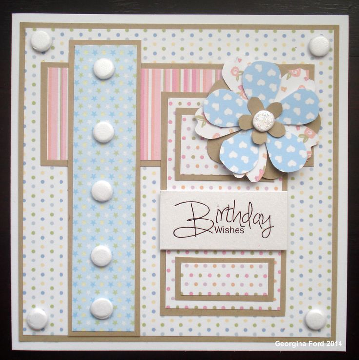 Card using Amelia and Jacob paper pads from Craftwork Cards.