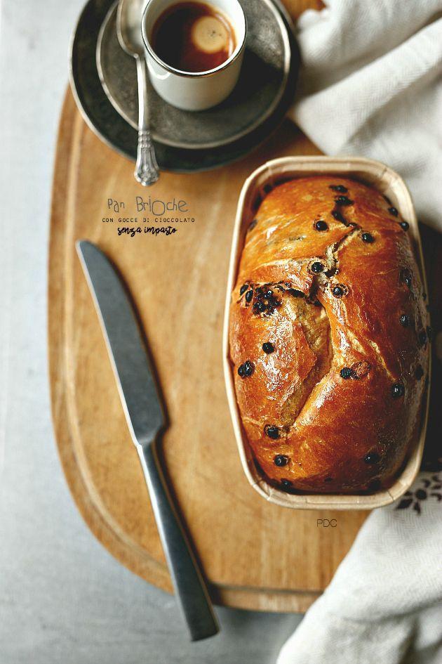 Pan Brioche senza impasto con gocce di cioccolato