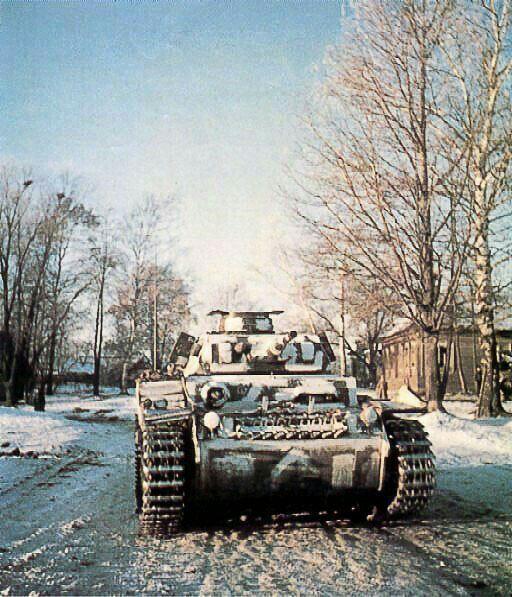 Panzer III Ausf. F на восточном  фронте .зима 1941-1942 г