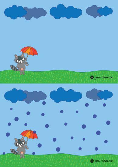 шаблон для рисования пальчиками с детьми, игры с детьми на тему осень, поделка на тему осень  free playdough mat or fingerpaint template, rain