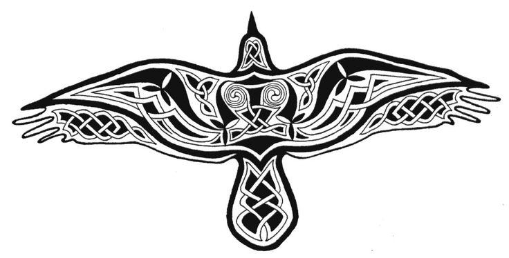 raven sword | color celtic raven a sillhouette of a raven filled wit