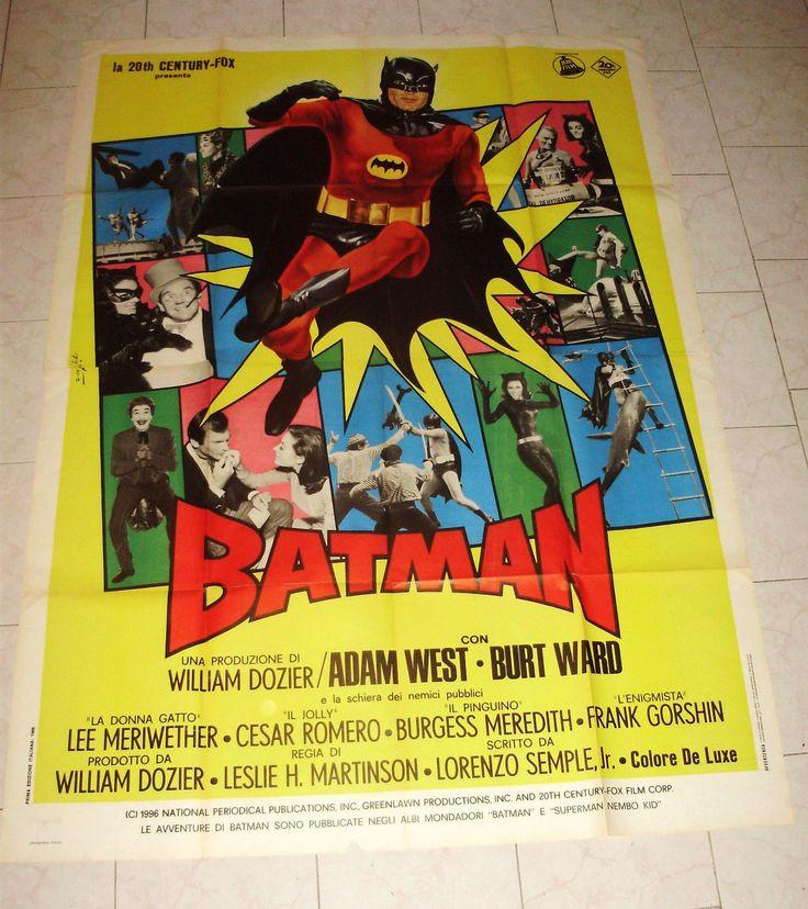Batman Adam West Italian 55x79 Movie Poster Burt Ward 1966 TV Comics   eBay