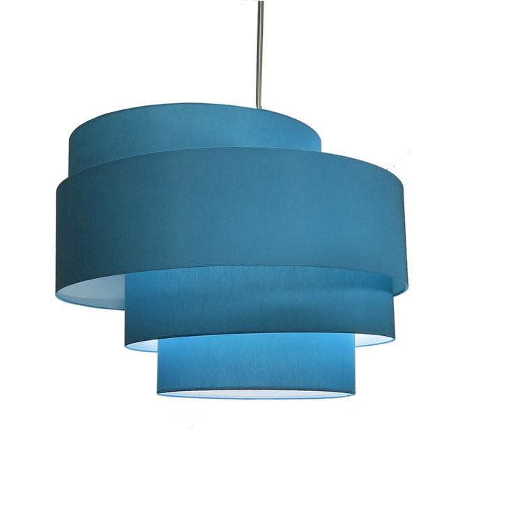 4 Tiered offset fabric pendant