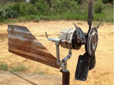 The Homestead Survival | Build An Off Grid Wind Generator Out Of A Truck Alternator | http://thehomesteadsurvival.com