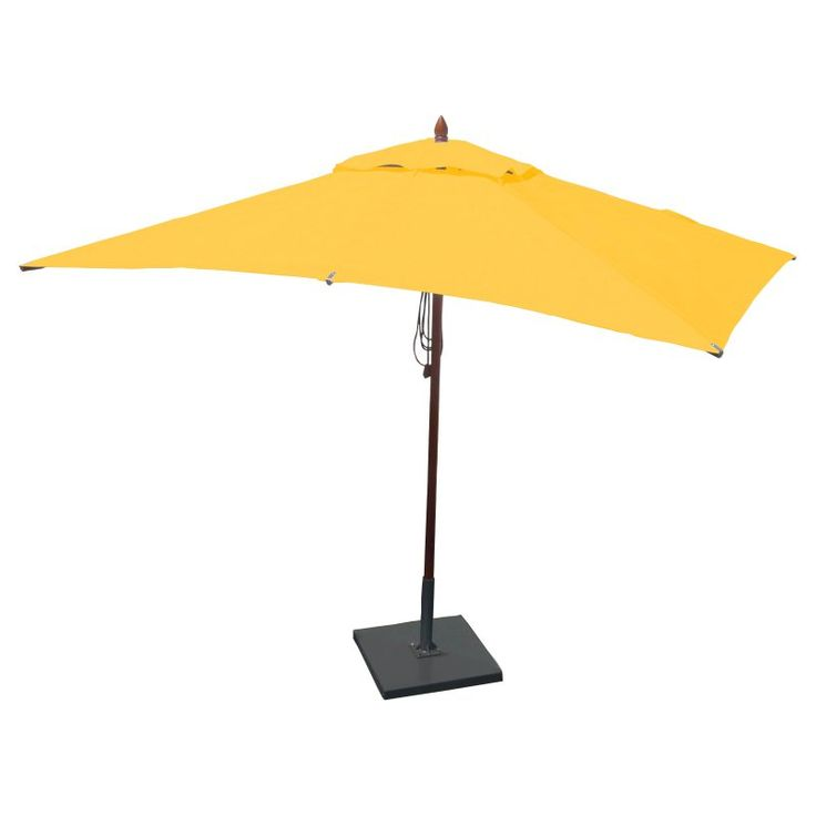 Greencorner 10 x 6.5 ft. African Mahogany Rectangular Patio Umbrella Sunflower Yellow - RC1065QS2013