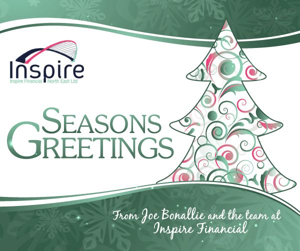 Inspire Financial North East Christmas ecard design
