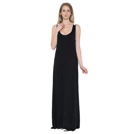 JED Women's, Blue Rayon and Spandex Lace Long Maxi Sundress