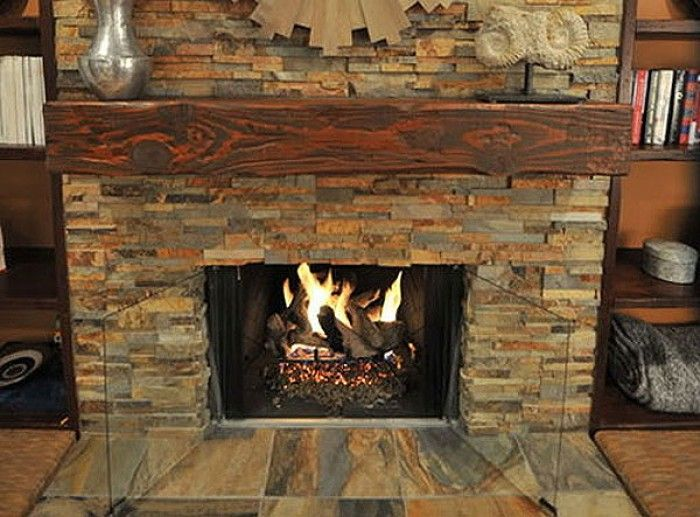 Wooden Split Face Tiles - Google Search. Rustic FireplacesStone FireplacesIndoor  ...