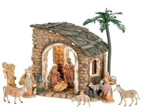 Fontanini Lighted Stone Nativity Set of 10